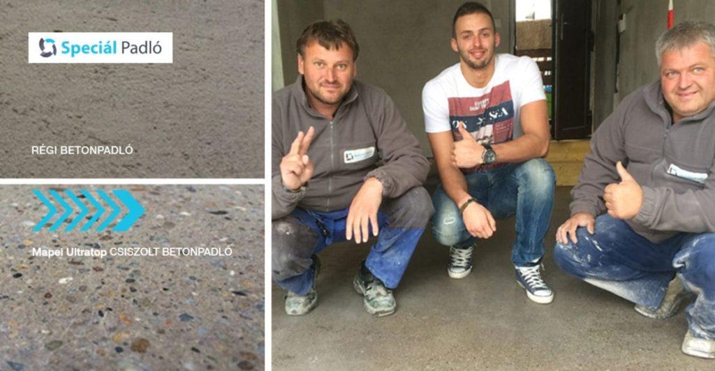 Ancsin Gábor Mol-Pick Szeged kézilabda játékos garázsának Betoncsiszolása