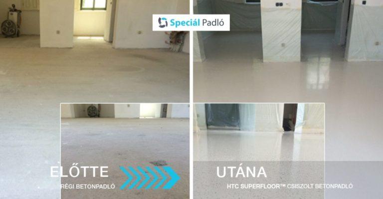 Fehér Mapei Ultratop önterülő padló