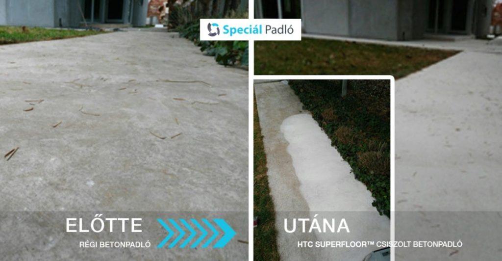 Kültéri betonjárda felújítás - Betoncsiszolás