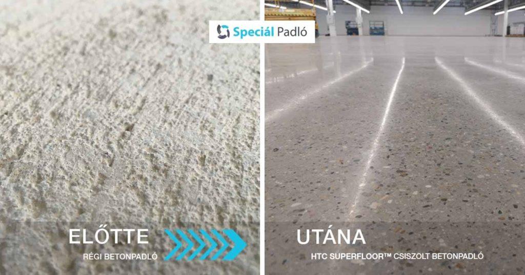 Videoton - Betoncsiszolás ESD vezetőképes csiszolt betonpadló
