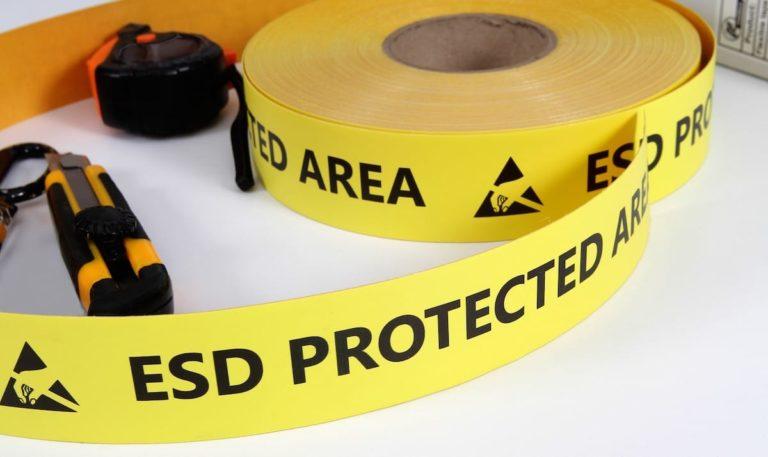 ESD védett padló